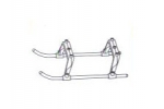 Double Horse RC Helicopter  Parts Undercarriage 9074-17
