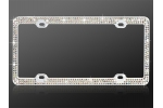 License Plate Frame s_0522z Clear Crystal