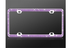 License Plate Frame Double  Row Purple Crystal