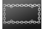 License Plate Frame F0777 Chain Link Metal