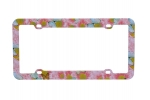 License Plate Frame_s_LPF6M018 Flower