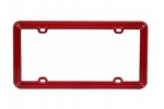 License Plate Frame Solid Dark Red Plastic