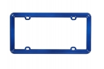 License Plate Frame Solid Dark Blue Plastic
