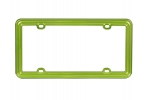License Plate Frame  Lime Green Plastic