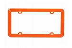 License Plate Frame CArrot Orange Plastic