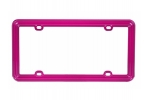 License Plate Frame Hot Pink Plastic