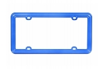 License Plate Frame Blue Plastic