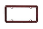 License Plate Frame Maroon Brown Plastic