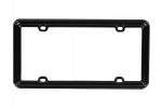 License Plate Frame Solid Black Plastic
