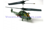 Hawk Black Micro Infrared Controlled  Helicopter 3CH