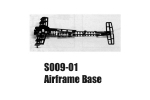 Syma Fighter Plane RC Helicopter  Parts S009-01 Airframe Base